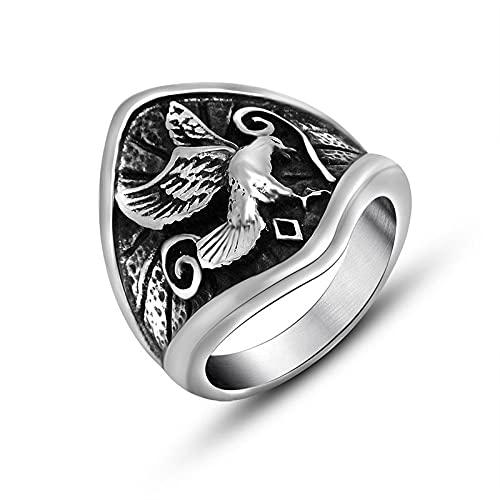 LINYIN Joyería Personalizada, Anillo de Acero de Titanio para Hombres, Anillo de águila Vintage, Joyería no Convencional Beauty Wai 8
