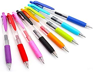 Gel Ink Retractable Roller Ball Pen Smooth and Effortless Writing Easy Grip, Assorted Vibrant Bold Colors, Pack Of 8