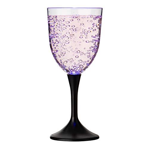 Ultra 2 Luces LED Copas de Vino Vaso de Plástico Líquido Copas...