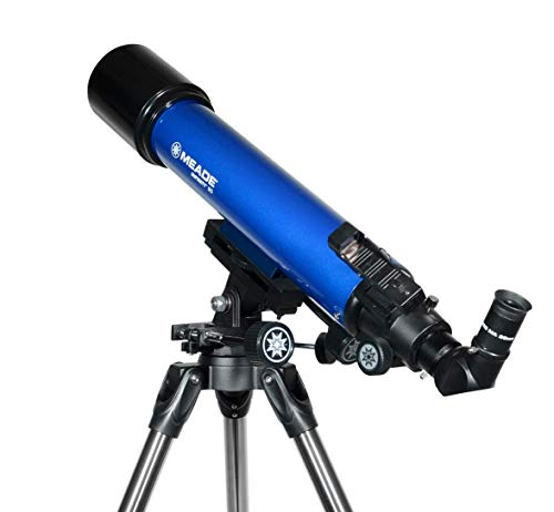 Meade Instruments 209005 Infinity AZ Refractor Telescope with Accessories and Tripod, 90mm, Blue