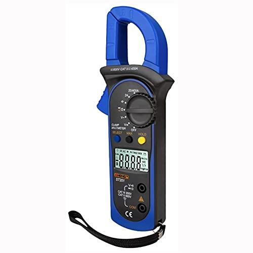 SACTOK デジタルクランプメーター デジタルテスター 交流電流計 STA03 (ブルー)