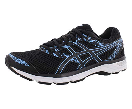 ASICS Gel-Excite 4 Women's Running Shoe, Black/Blue Bell, 8 M US