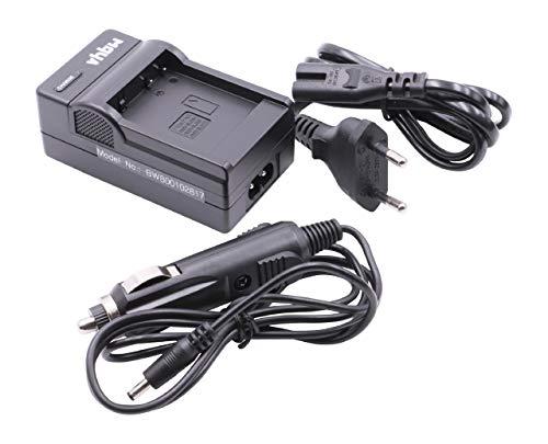 vhbw Cargador Compatible con Panasonic Lumix DMC-TZ90, DMC-TZ96 batería de cámara - Soporte + Adaptador Coche