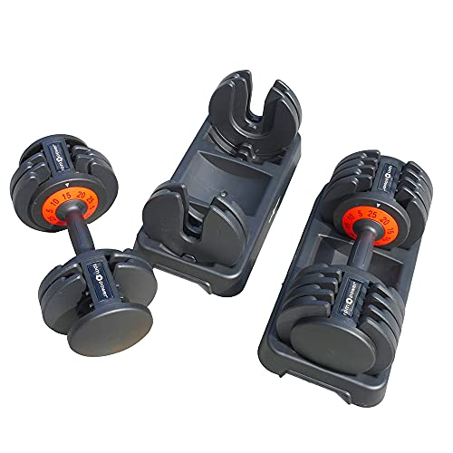 RPM Power 25KG Adjustable Dumbbell [paire], idéal pour les entraînements à domicile, la musculation, le développement musculaire pour les hommes et les femmes.