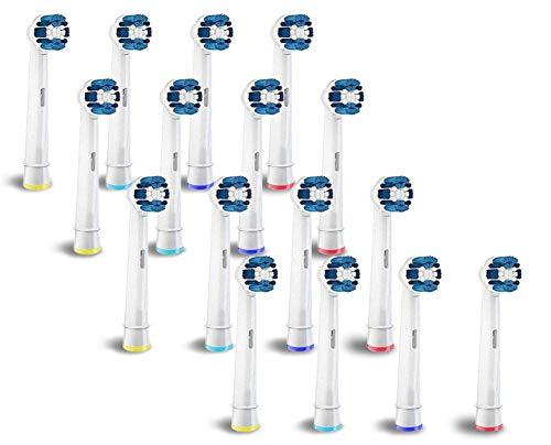Boston Tech 16 opzetborstels voor elektrische tandenborstels, type Precision EB20, compatibel met Braun Oral B, Boston Tech, Lidl en andere.