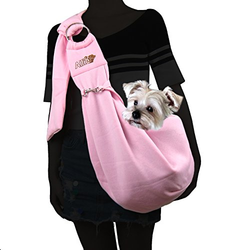 Alfie Pet - Chico 2.0 Revisible Pet Sling Carrier with Adjustable Strap - Color: Pink