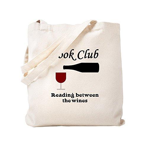 CafePress - Book Club Reading Between The - Natural Canvas Tote Bag, Cloth...