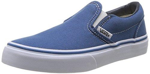 Vans Kid's Classic Slip-On Navy/True White Skate Shoe 4