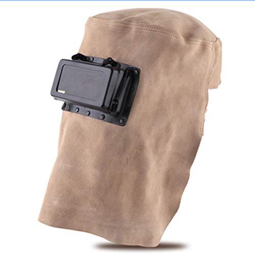 Protección Soldadura eléctrica Cubierta Completa Casco de Soldadura Chal de Cuero Tapa de Soldadura Máscara de Uso Máscara Protectora Suave y cómoda Caretas para soldar