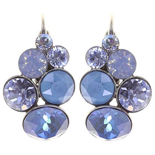 Ohrring PETIT GLAMOUR   KONPLOTT - Exklusiver Modeschmuck mit Swarovski Elements   Ohrhänger mit Glitzer-Steinen   Ohr-Schmuck für Damen in Weiß, Türkis, Blau, Rot, Multi
