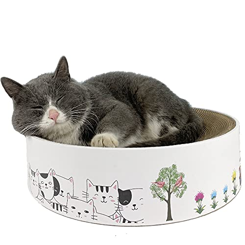 FGXY Rascador de Cartón para Gatos, Alfombras Rascadoras para Gatos, Reciclar El Rascador Corrugado, Redonda Fuerte y Robusto Rascador para Gatos de Corrugado Cartón