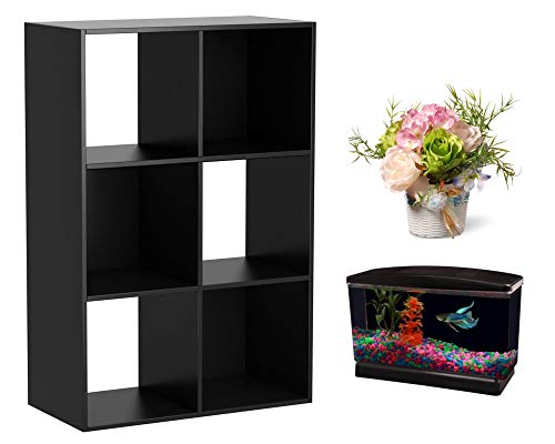 Unbranded Mainstay Storage Organizer 6 Cube- Black with Free (Bundle Pack)