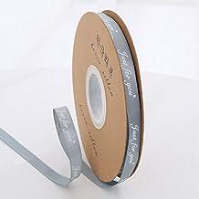 """DDDCM 10mm""""handgemaakte"""" gedrukt polyester lint met letter gedrukt lint for gift verpakking (Kleur : Just 10mm silver, Gro..."""