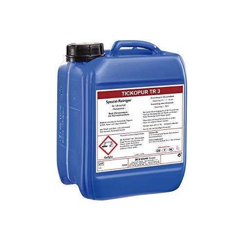 Tickopur TR3 (5 liter), Ultraschallflüssigkeit für Vergaser und vieles mehr!   Reinigungskonzentrat mit Dosierung von 5 Prozent, Ultraschall Reinigungsmittel für Aluminium