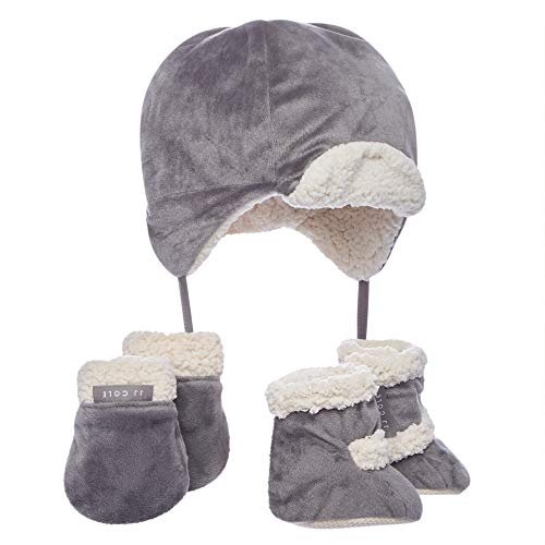 JJ Cole Bomber Baby Hat Set, Graphite