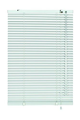 GARDINIA Alu-Jalousie, Sicht-, Licht- und Blendschutz, Wand- und Deckenmontage, Alle Montage-Teile inklusive, Aluminium-Jalousie, Silber/Weiß, 80 x 140 cm (BxH)