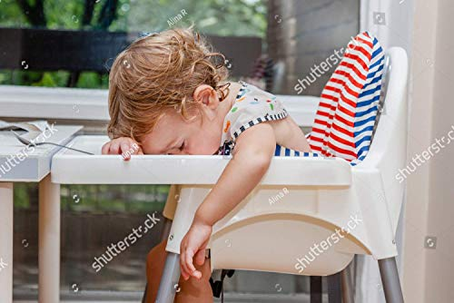 Find Discount KwikMedia Poster of Tired Child Sleeping in highchair After The Lunch. Baby Over Eatin...