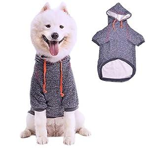 AEKOONA Chiens Moyens et Gros Chiens Sports Capuche, Chien Manteaux, Pull pour Chien Puppy Pull pour Animal Domestique Doggie Sweat à Capuche
