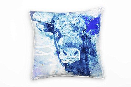 Paul Sinus Art Bull Deko Kissen Bezug 40x40cm für Couch Sofa Lounge Zierkissen - Dekoration zum Wohlfühlen