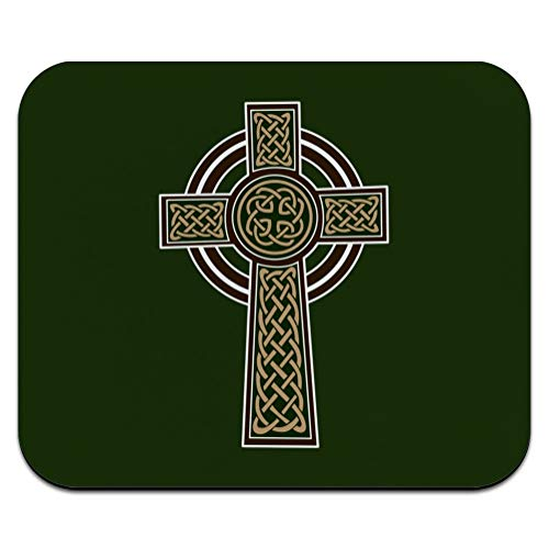 Celtic Christian Cross Irish Ireland Low Profile Thin Mouse Pad Mousepad