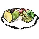 Antifaz para dormir, suave y cómodo, para vegetales veganos, alimentos veganos, frutas, viajes, meditación, trabajo por turnos