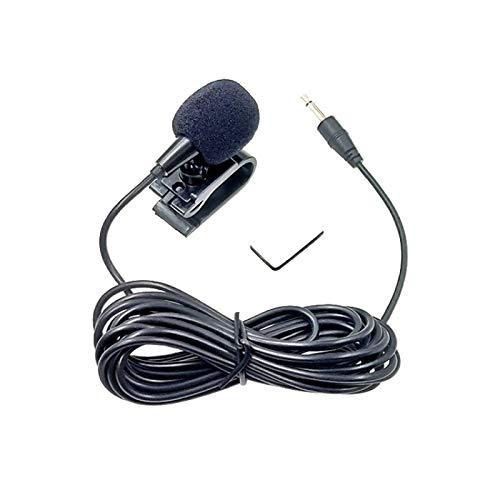 ZJ025MR Palo en el Clip de la Toma de micrófono de Solapa Mono de 3,5 mm for el Coche GPS/Bluetooth Activado Audio DVD micrófono Externo, la Longitud del Cable: 3m