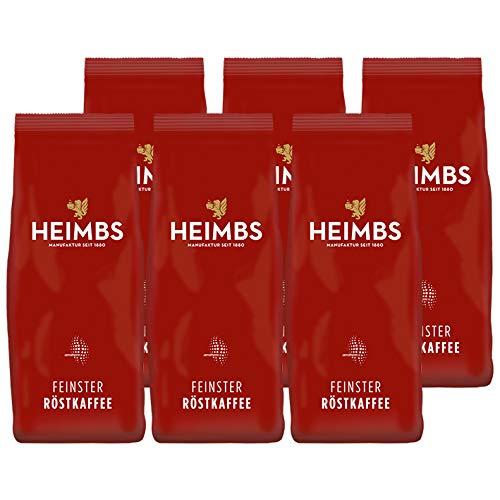 HEIMBS Gastronomie Mischung Feinster Röstkaffee, 250g gemahlen, 6er Pack