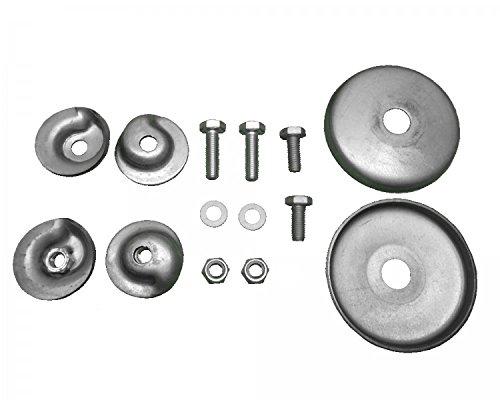 FKAnhängerteile 1 x Befestigungssatz für Schraubenfedern für 1 Achse = 2 Federn passend für Westfalia