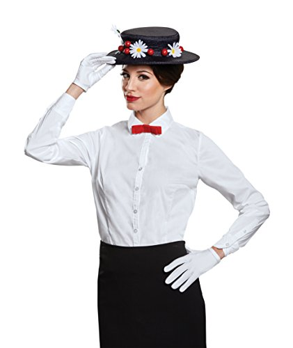 Disguise Women's Mary Poppins Accessory Kit Costume, Black, One Size Adult