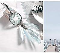 LLDE 車のバックミラー創造羽のペンダントの宝石編組ドリームキャッチャーペンダントジュエリー車の装飾品