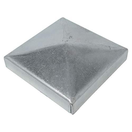 6 x SO-TOOLS® Pfostenkappe Pyramide Stahl verzinkt Abdeckkappe für Pfosten 50 x 50 mm