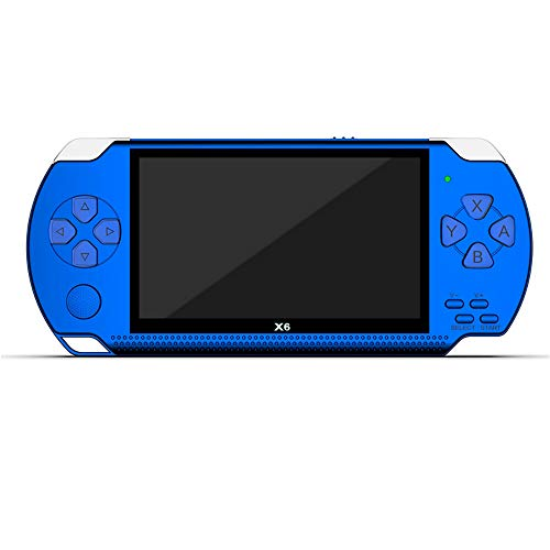 XUANWEI Console de jogos portátil PSP, console de 8 GB, console de videogame clássico de 4,3 polegadas, console de jogos retrô