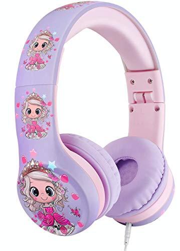 41SaPPYWFDL - Nenos Kids Headphones Children's Headphones for Kids Toddler Headphones Limited Volume (Lavender)