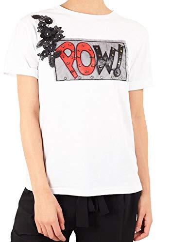 Brave Soul Camiseta Mujer Pow Blanco S Blanco