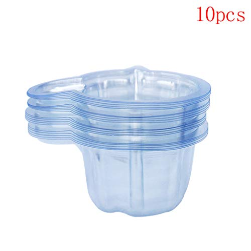 Dabixx Einweg-Urinbecher aus Kunststoff, transparent, 40 ml, 10 Stück