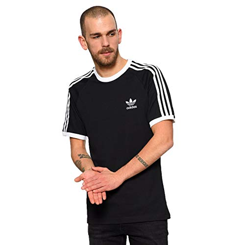 adidas abbigliamento uomo t shirt manica corta CW1202 3 STRIPES TEE M Nero