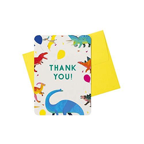 Talking Tables DINO-THANKS Party dinosaurus A6 bedankkaarten 8 stuks, papier, meerkleurig