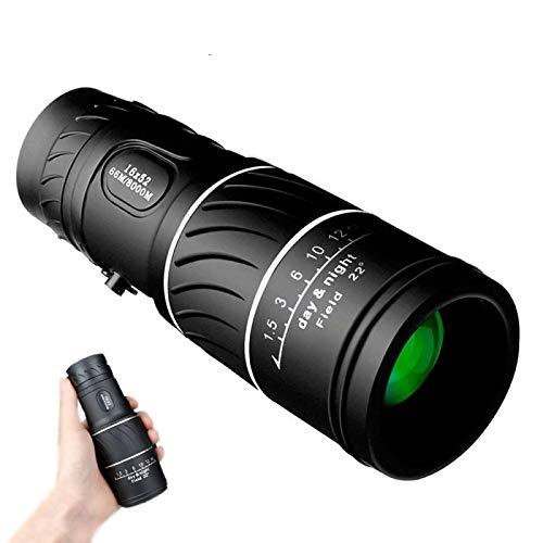 Telescopio Monocular HD De Alta Potencia 16X52 66 / 8000M Binoculares Profesionales Óptica De Telescopio con Zoom Impermeable para Caza Al Aire Libre Observación De Aves