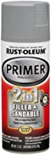 Rust-Oleum 260510 Automotive 2-in-1 Filler & Sandable Primer, 12 oz, Gray