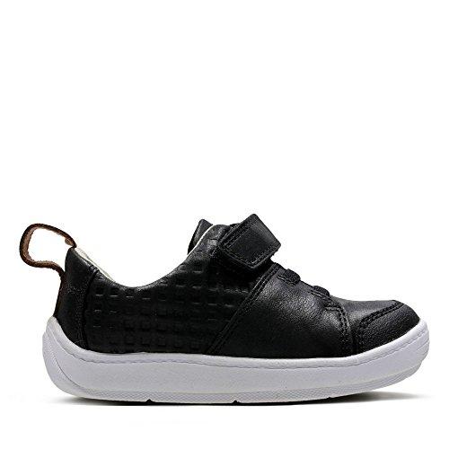 Clarks Dash Racer, Chaussures Basses pour Garçon - Noir - Noir,