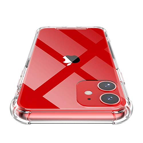 Shamos iPhone 11 Hoesje Transparant, Versterkte TPU Silicone Bumper Stootvaste Beschermhoes Case Helder Telefoonhoesjes