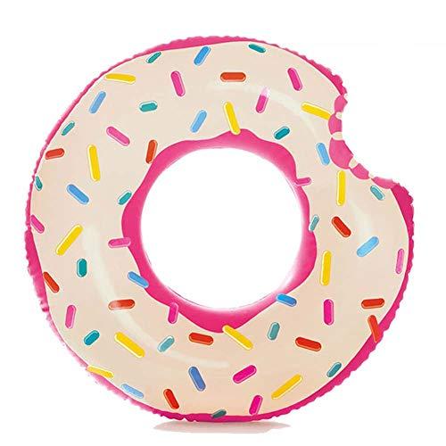 Thole Aufblasbarer Angebissener Donut Mit Biss Schwimmring 115cm Floating Ring Riesen Schwimmreifen Mit Handpumpe FüR Erwachsene Und Kinder