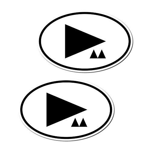 GreenIT 1 Set = 2 Stück 15cm DM Symbol Länderkennzeichen Aufkleber car Bumper Sticker Auto Heck Deko Depeche Mode