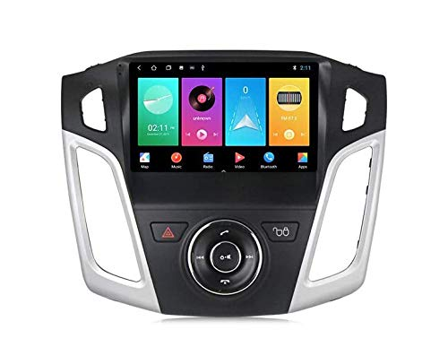 WEUN Android car radio radio Double Din Sat NAV for Ford Focus 2011-2015 GPS navigation 9 inch touchscreen multimedia player video receiver with 4G DSP RDS Carplay,M200