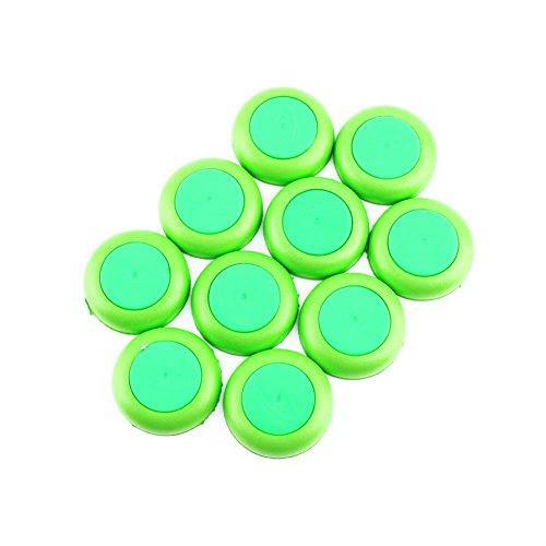 Yosoo Discos volantes recargables para Nerf Juguete para niños Arma Pistola Dardos Redondo de Cabeza Redonda Blaster para Nerf Vortex Blaster, Praxis, NITRON, VIGILON, Soft Disc Green (10 unidades)