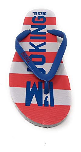 Diesel Stripe Jungen/Mädchen Sandalen Zehentrenner Slipper Schuhe Badeschuhe (Numeric_38)