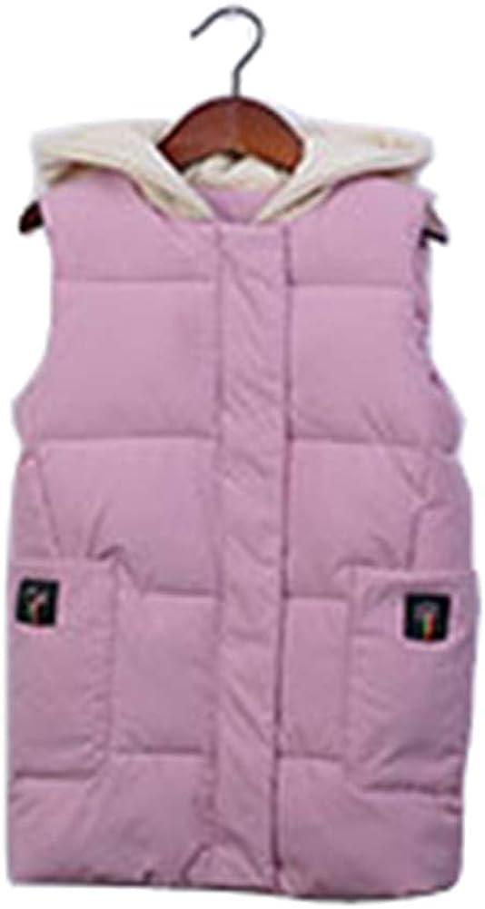 taitaibaby Little Big Girls Hooded Vest Winter Waistcoat Toddler Kids Sleeveless Jacket Padded Warm Outerwear Coat