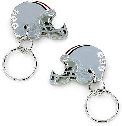 Aminco NCAA Ohio State Buckeyes 2-Sided Helmet Bottle Opener Keychain