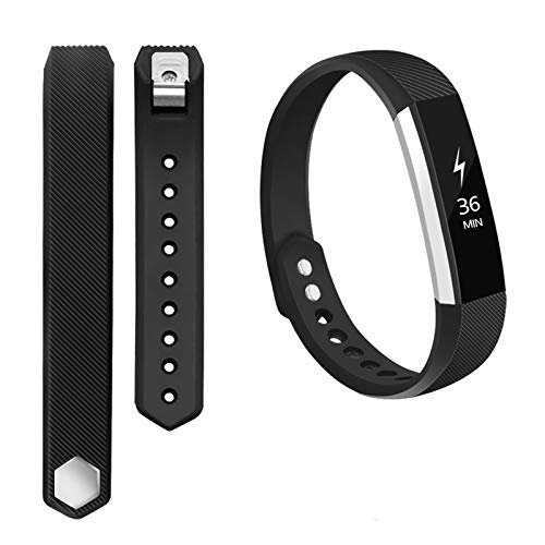 POY Compatible Bands Replacement for Fitbit Alta Bands, Adjustable Wristband Sport Bands for Fitbit Alta/Fitbit Alta HR (Black, Large)