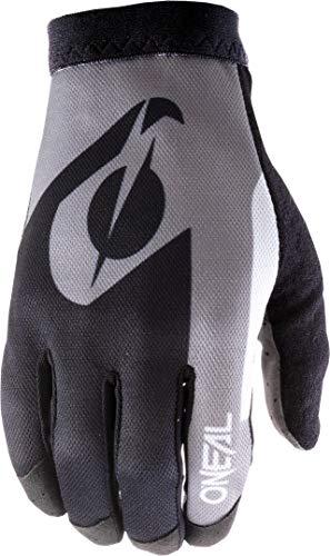 O'NEAL | Fahrrad-Handschuh Motocross-Handschuh | MX MTB DH FR Downhill Freeride | Unser leichtester & bequemster Handschuh, Nanofront®- Handpartie | AMX Glove | Erwachsene | Schwarz Grau | Größe XL